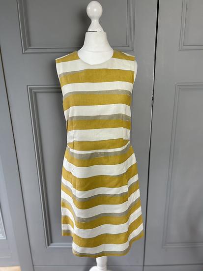 Chloè yellow/white striped dress UK
