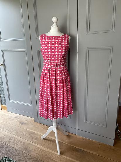 Rachel Riley pink heart  dress 50s style dress. UK10