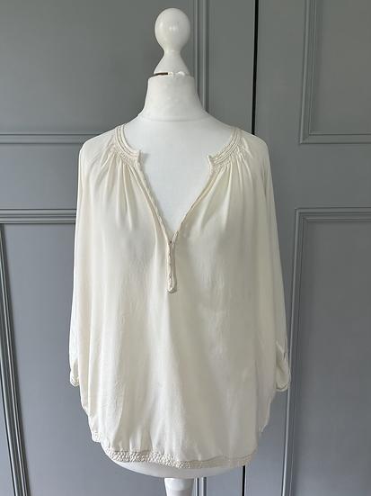 Vince cream blouse Uk10/12