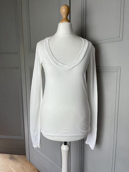 James Perse White long sleeve top UK6-8 rrp£90