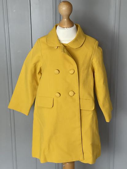 BNWT Girls La Coqueta yellow jacket, 3 years Rrp£89