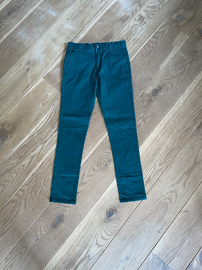 Boys green chinos Age 11-12 years