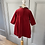 Thumbnail: Burberry red velvet dress 12-24mths