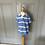 Thumbnail: Boys Polo Ralph Lauren blue and white t shirt age 4