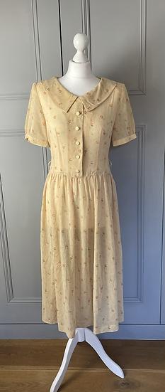 Vintage  floaty floral tea dress UK 10-12