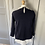 Thumbnail: Ted Baker navy jumper with faux shirt detail and scalloped collar. Medium