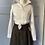 Thumbnail: Brown wool kilt/mini skirt. UK14