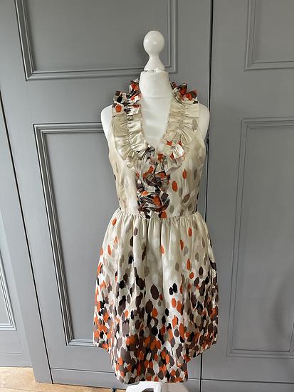 Kate Spade New York silk ruffle dress Uk8/10