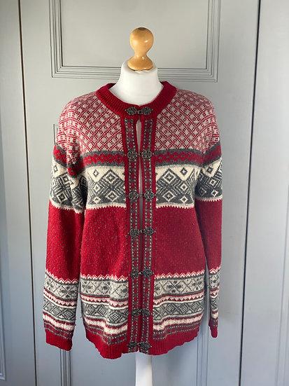 Vintage wool Austrian style cardigan. M/L