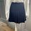 Thumbnail: Jack Wills navy wool kilt mini skirt. UK8/10