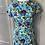 Thumbnail: Vintage style cotton floral dress Uk 8-10