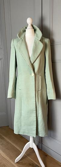 Katherine Hooker London green long jacket UK 8