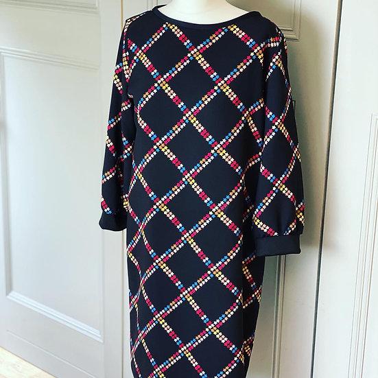 Marella black/star print dress 12/14