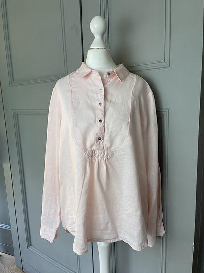 Monsoon pink linen blouse UK 12