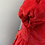 Thumbnail: Couture BNWT red velvet party dress. 2-3yrs