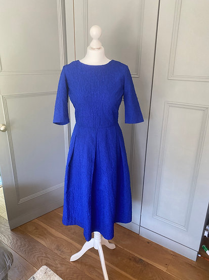 Saloni blue textured dress (UK 10)