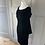 Thumbnail: Vintage 50/60s black velvet dress. Uk12