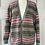 Thumbnail: Vintage wool fair isle cardigan. Uk12/14/16