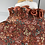 Thumbnail: Vintage chiffon orange/metallic thread knee length dress. UK8/10