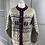 Thumbnail: Vintage LLBean Scandinavian cardigan cream/navy/red (M/L)