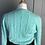Thumbnail: Lamberto Lasani cashmere mint green cable knit jumper UK8-12
