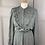 Thumbnail: Vintage chiffon green dress with metallic thread. UK10/12