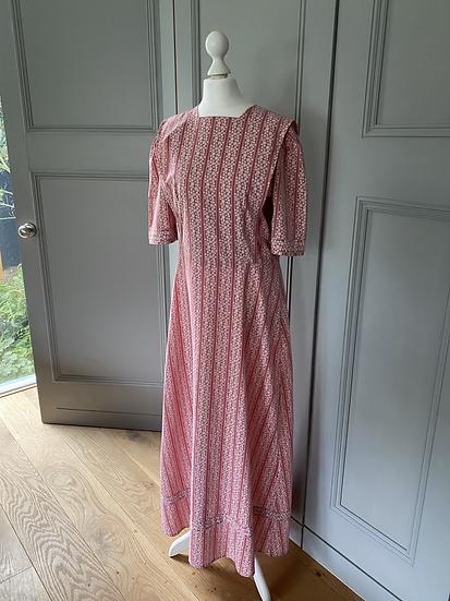 Vintage 60's cotton maxi dress UK8-12