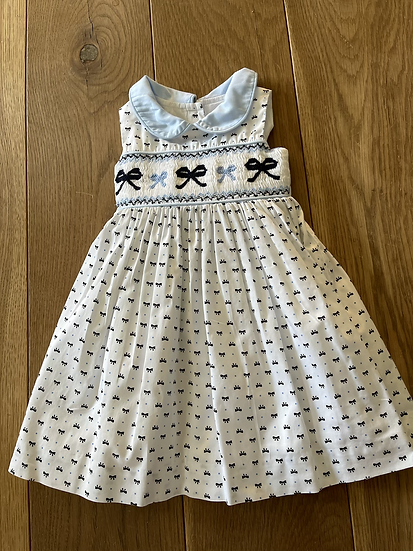 Rachel Riley girls bow dress age 2/3yrs with bloomers
