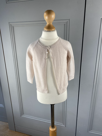 Bonpoint cashmere pale pink cardigan. 18mths
