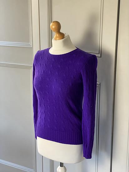 Ralph Lauren cashmere cable knit jumper XS/S