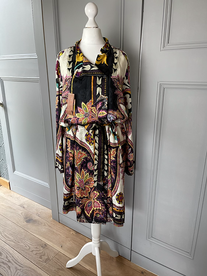 BNWT ETRO multi coloured paisley silk dress. UK10-14