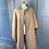 Thumbnail: Vintage reversible brown/beige wool cape M/L