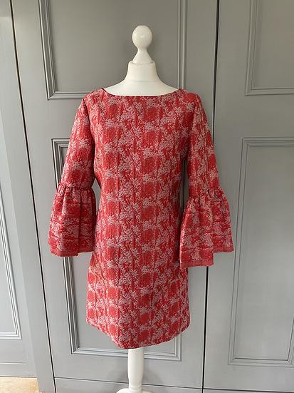Adolfo Dominguez Costura red dress UK 12