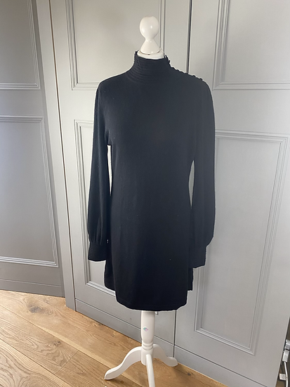 Jaeger London black cashmere/ silk sweater dress L