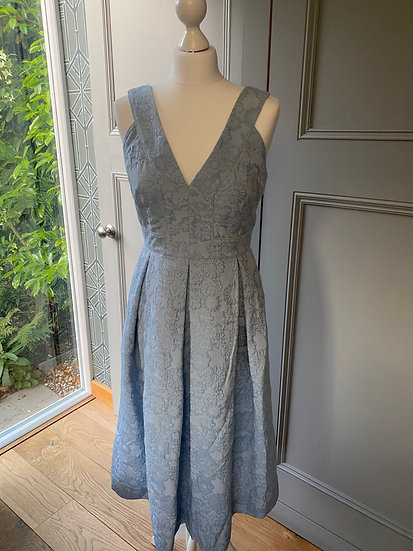 Erdem jacquard light blue dress (UK10/12 )