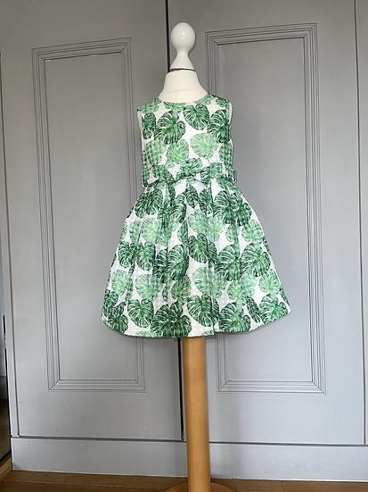 BNWT Rachel Riley leaf patterned dress age 3