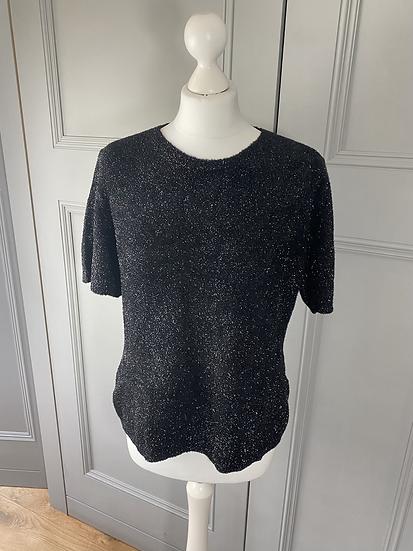 Jaeger black sparkle knit L