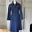 Thumbnail: Vintage 70s denim dress with plait detail UK10/12
