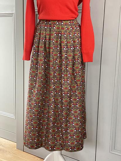 Vintage LIBERTY cotton/wool mix skirt NEW UK10-14