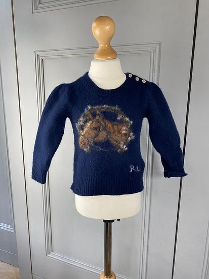 Ralph Lauren wool horse jumper 2yrs
