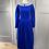 Thumbnail: Vintage Laura Ashley cobalt blue needlecord dress with lace collar UK8/10