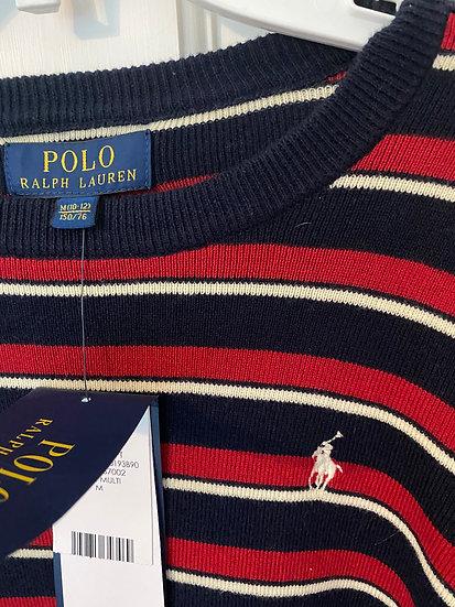 BOYS 10-12yrs Ralph Lauren blue/red/white striped sweater