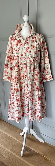 Zara cotton floral maxi dress Uk M