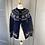 Thumbnail: Vintage Norwegian navy/white festive cardigan. XS/S