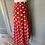 Thumbnail: Vintage Red polka dot pleated skirt Uk 6