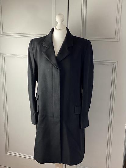 Whistle wool/cashmere mix black coat. Uk14