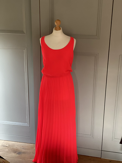 Tommy Hilfiger pink neon maxi dress. Uk10/12