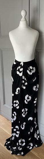 ISSA black and white maxi skirt UK 8