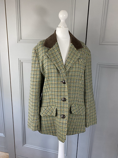 Colourful vintage tweed jacket. Uk10/12