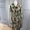 Thumbnail: Vintage wool mix autumnal pattern dress with bow UK 12-16